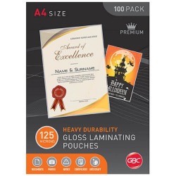 GBC Laminating Pouches A4 125 Micron Pack of 100