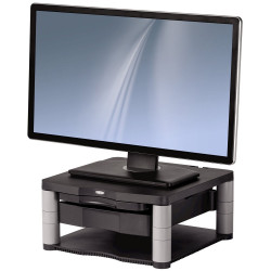 Fellowes Monitor Riser Plus 5 Adjustments With Drawer Graphite