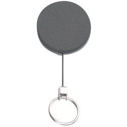 Rexel Key Card Holder Retractable Metal With Key Ring Black