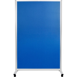 Mobile Display Divider Panels Double Sided 1800Hx1200mmW Blue Fabric