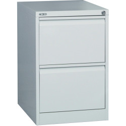 Go Steel 2 Drawer Filing  Cabinet 705Hx460Wx620mmD Silver Grey