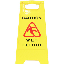 Cleanlink A-Frame Safety Sign Wet Floor 320x310x650mm Yellow