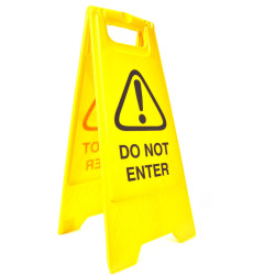Cleanlink A-Frame Safety Sign Do Not Enter 320x310x650mm Yellow